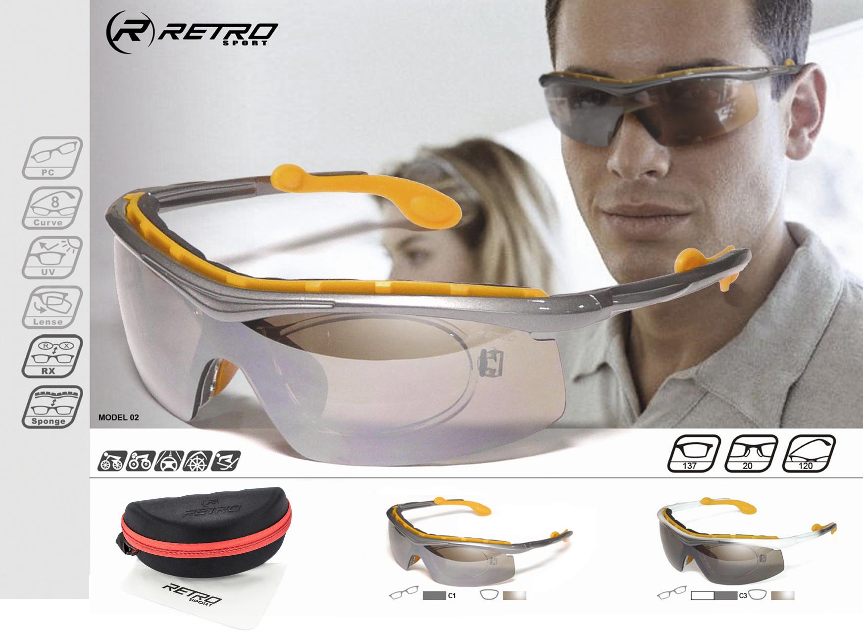 Okulary Sportowe - Przeciwsłoneczne RETRO SPORT